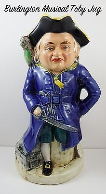 Large Vintage Burlington Musical Long John Silver Toby Jug