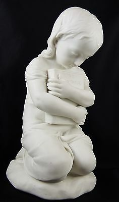 Stunning Large Antique Minton John Bell Parian Figure Young Girl 'Belief' c1847