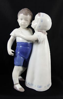 Bing & Grondahl Children Kissing Love Refused Figure 1614 1950's