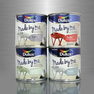 1 Litre (4 x 250ml) Dulux Made By Me Satin Paint Upcycle Shabby Chic Furniture