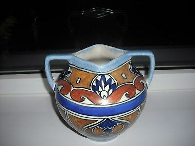 George Clews Chameolon Hand Painted Art Deco Vase