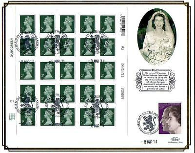 BENHAM D619 SHEET 25 x 2p NEW SECURITY STAMPS FDC 8-3-11 WESTMINSTER SHS F11