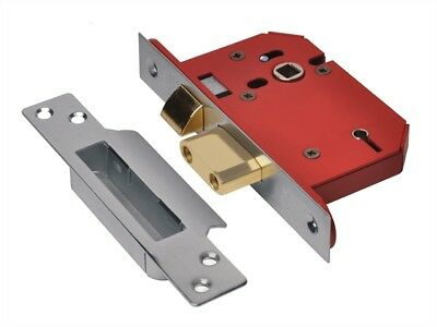 Union Y2205S-SS-2.5 StrongBOLT Stainless Steel 5 Lever Mortice Sash Lock Visi