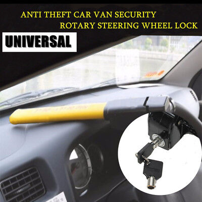 Universal Car Auto Anti Theft Van Security Rotary Steering Crook Wheel Lock New