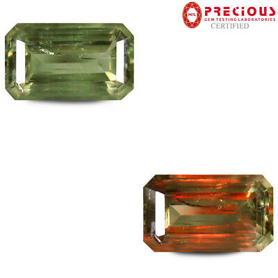5.86 ct PGTL Certified Elegant Octagon (14 x 8 mm) Un-Heated Change Diaspore