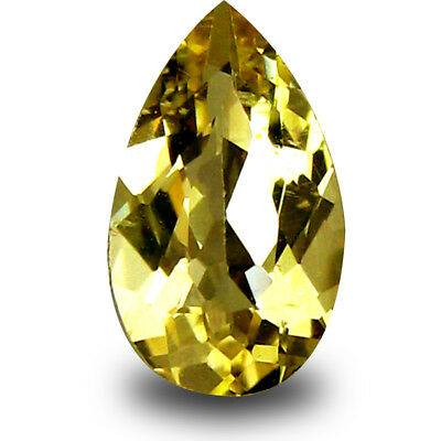0.81 ct AAA Lovely Pear Shape (9 x 5 mm) Yellow Heliodor Beryl Natural Gemstone