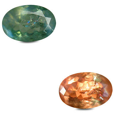 0.51 ct Spectacular Oval Shape (6 x 4 mm) Un-Heated Color Change Alexandrite