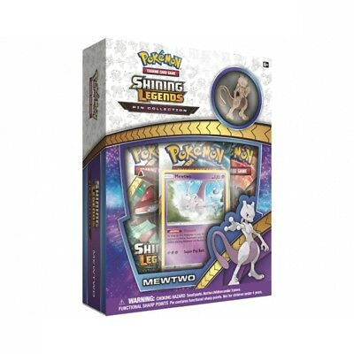 Pokemon TCG Shining Legends Pin Collection- Mewtwo Brand New