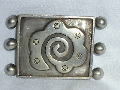 Rare! Collectible Old Mexican Sterling Abstract Brooch- Rafael Dominguez!