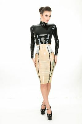 NEW COLLECTION 2018 DOM SKIRT LATEX RUBBER *Transparent* 6-8 UK ONE ONLY
