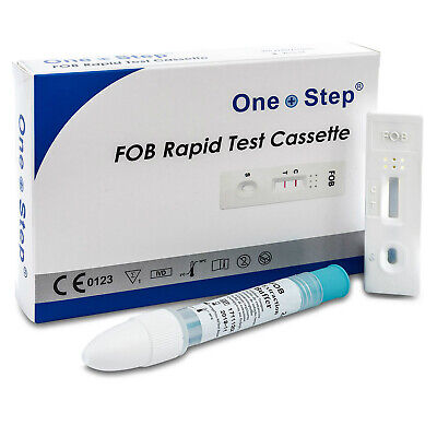 Bowel Colon Cancer Test Kit Faecal Occult Blood (FOB) Home Tests - One Step