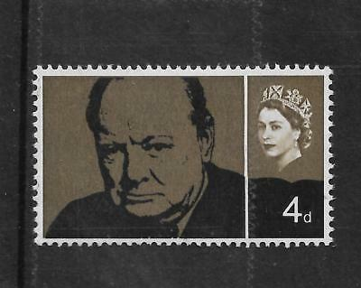 1965 WINSTON CHURCHILL 4d BLACK AND OLIVE BROWN WMK INVERTED SG 661a REF 1751