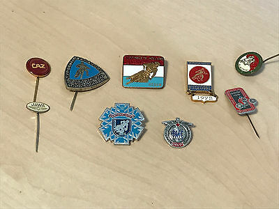 Lot of Vintage (1970s) International Speedway Badges - Holland - Soviet Union ++