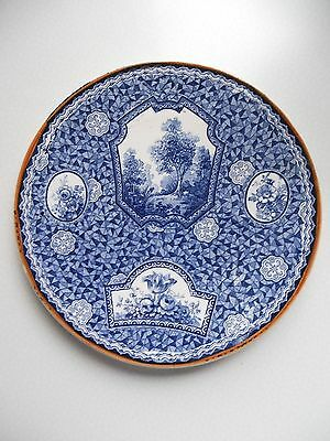 Bonn Franz Anton Mehlem Assiette Plate Decor Flamand