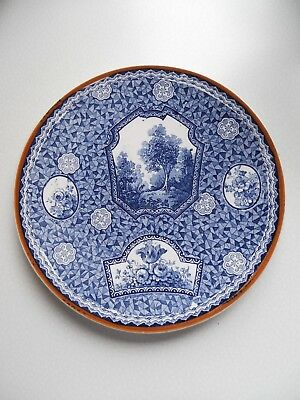 Bonn Franz Anton Mehlem Assiette Plate Decor Flamand Tbe