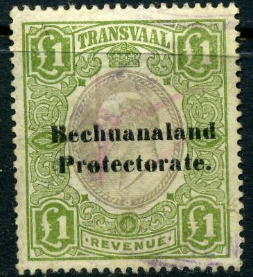 Stamp Bechuanaland Protectorate GBP1, used, revenue, combine shipping 144R