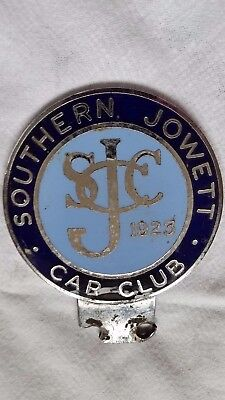 "Vintage Car Badge ""southern Jowett Car Club"""