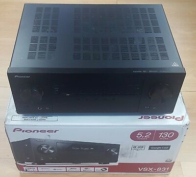 Pioneer VSX-831-B 5.2 Home Network AV Receiver with Bluetooth Black OPEN-BOX#732