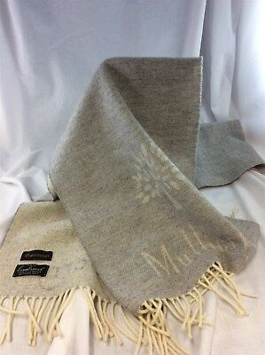Mulberry - Lambswool Light Grey Fringed Scarf