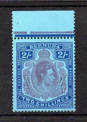 BERMUDA 1938 GV1 2/- PERF 13 DEFINITIVE LISTED 10b SCALLOPED CROWN ON LEFT U/M