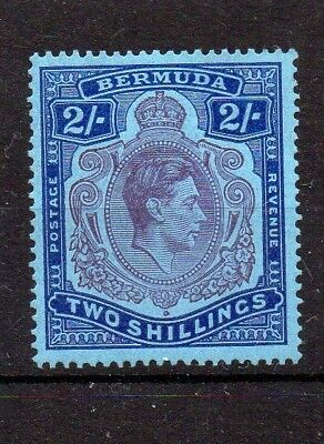 BERMUDA 1938 GV1 2/- PERF 14 DEFINITIVE LISTED 2a JOINED PEARLS FLAW U/M