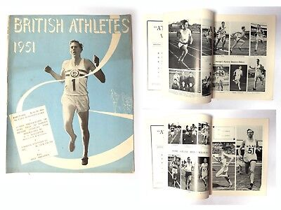BRITISH ATHLETES 1951 Athletics Weekly Publ. Annual review Pictures & PBs