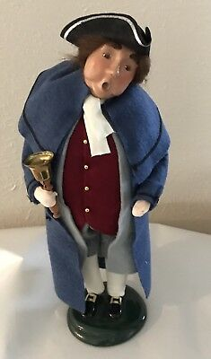 Byers Choice Carolers Man With  Bell  Williamsburg 2002 Retired EUC