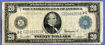 Docs $20.00 FRN Large Size Series 1914 - Intact Example + Free Shipping! NR