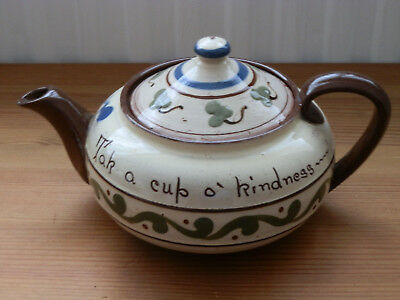 Old Watcombe Pottery Motto Ware Teapot