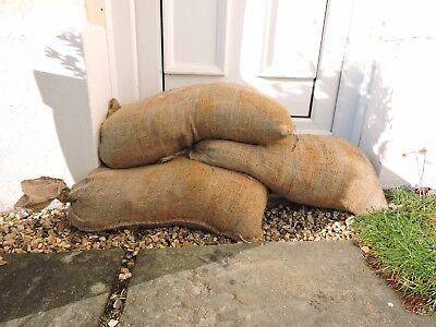 Sandbags Hessian & Polypropylene Flood Prevention Sacks With Ties