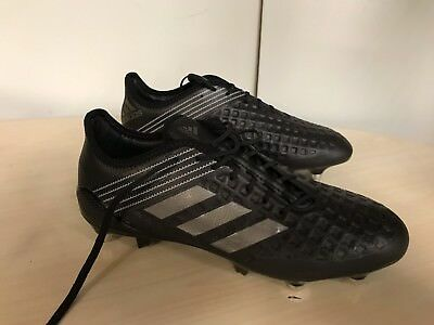 adidas Predator Malice Control SG  Rugby Boots  UK 10.5  Black/Blue rrp £160