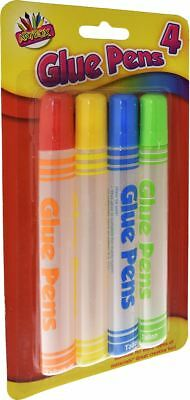 4x 50ml Glue Pens Adhesive Kids Childrens School Craft Non-Toxic Safe Stationery