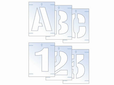 Scan SCA9404 Letter and Number Stencil Kit 50mm Sign