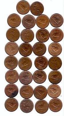 20 farthings.mostly e.f to brilliant uncirculated