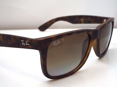 Authentic Ray-Ban Justin RB 4165 865/T5 Matte Tortoise Brown Pol Sunglasses $210