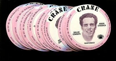 1976 Crane Discs Roger Staubach Lot Of 25 Mint *inv3384