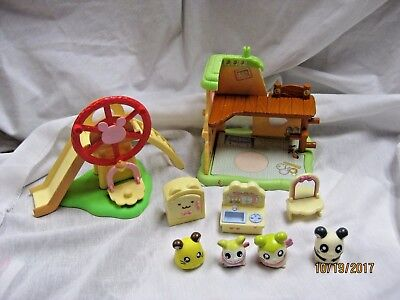 Hamtaro Ham Ham Hamster dollhouse house Epoch with figures and accessories