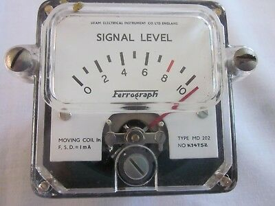 Vintage Analog Signal Level Indicators Ferrograph Type MD 202 from 1960's?