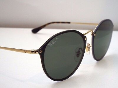 Authentic Ray-Ban RB 3574N 001/9A Blaze Gold Green Classic Polar Sunglasses $255