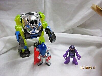 Fisher Price Imaginext Space Mech Suit mechanical suit with figure and alien