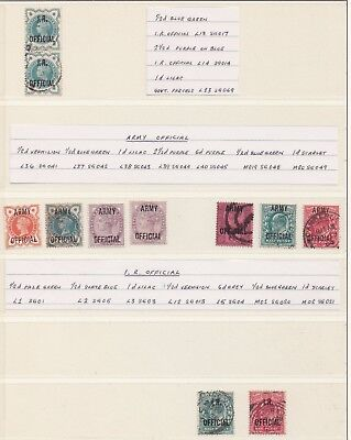 Lot:23613  GB QV   Officials IR and Army QV and EDVII 1/2d to 6d