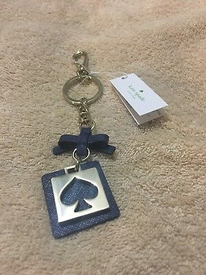 KATE SPADE Cut out Spade KEY FOB NWT Oceanic Blue