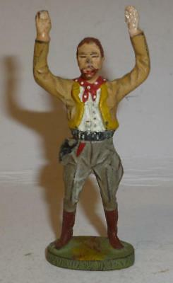 Elastolin Vintage Composition Wild West Cowboy With His Hands Up