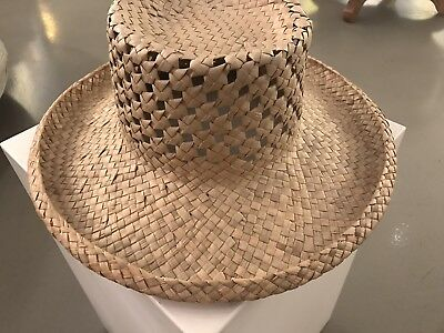 Beautifully Handwoven Heirloom Hawaiian Pandanus Hat (2/4) - No Reserve