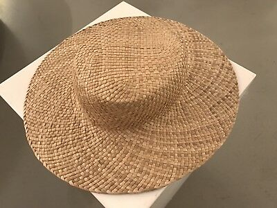 Beautifully Handwoven Heirloom Hawaiian Pandanus Hat (3/4) - No Reserve