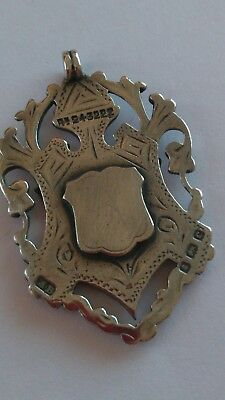 Antique Solid Silver Watch Fob 1902.