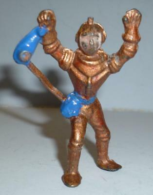 Cherilea Vintage Lead Rare Gold Spaceman With Atom Gun- 1940/50's