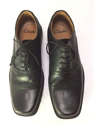 Clarks Black Leather Oxford Formal Shoes Size UK 7