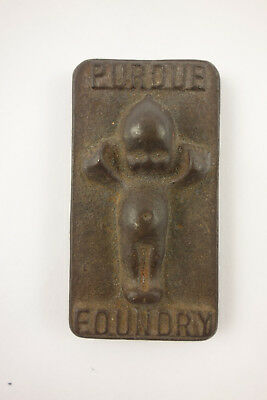 Early 1900's Antique Purdue Foundry Cast Iron Kewpie Cupie Paperweight