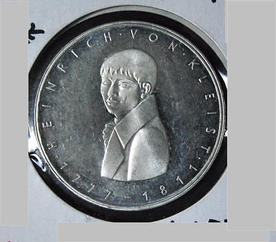 ALEMANIA 5 marcos 1977 G HEINRICH VON KLEIST #146 proof * GERMANY 5 MARK